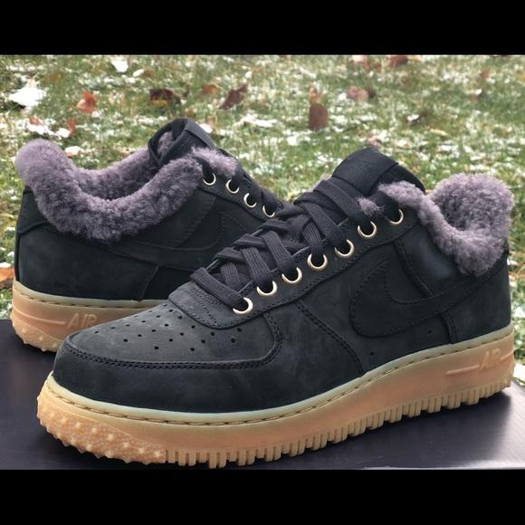 pómulo Trastornado Persona a cargo del juego deportivo  Nike Shoes | Nike Air Force Premium Winter Shoes Black Grey | Poshmark